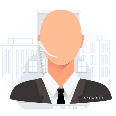 mobile sicherheitsmitarbeiter